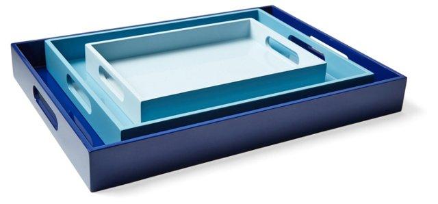 Asst. of 3 Sky Trays, Blue