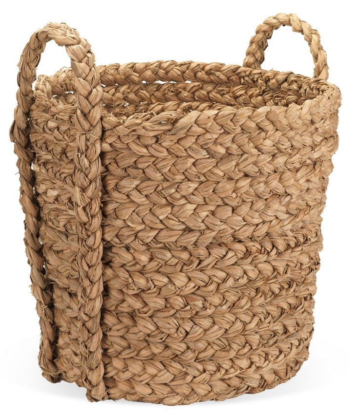 Cattail Leaf Storage Basket