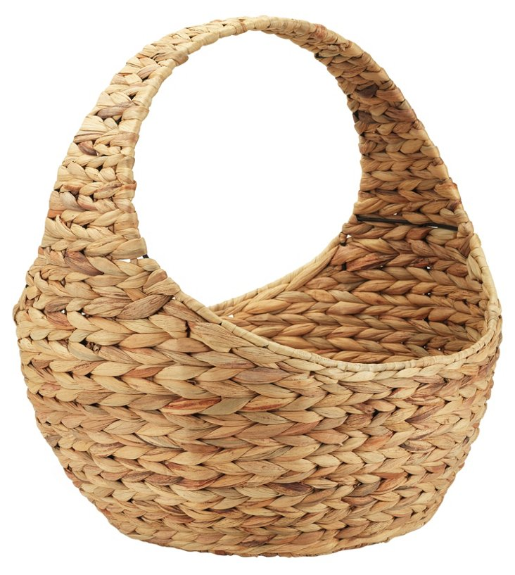 Water-Hyacinth Basket, Natural