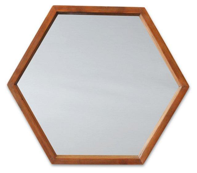 Hive Accent Mirror, Barn Brown