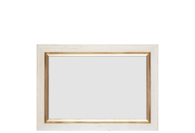 Gold-Lip Frame, 4x6, White