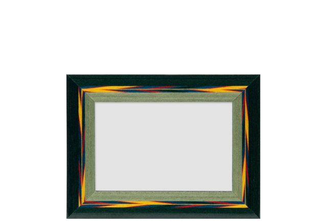 Plume Feathers Frame, 4x6, Green