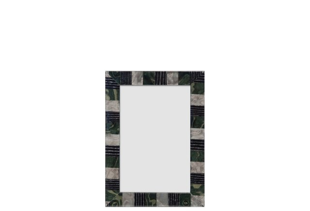 Piazza Checkered Frame, 4x6, Green/Gray
