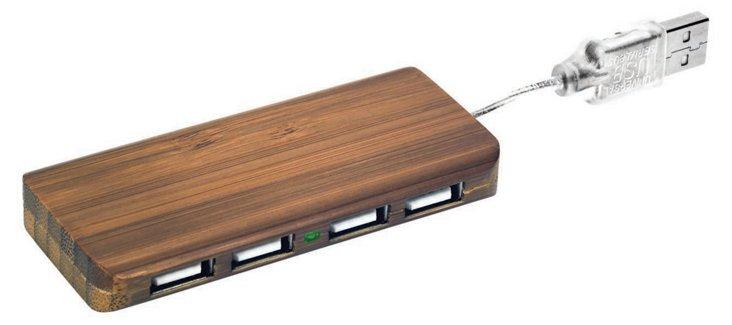 Caramel Bamboo USB Hub