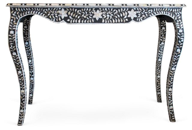Abalone-Inlaid Console
