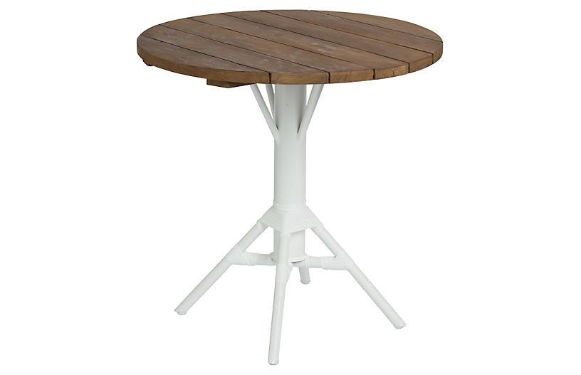 Nicole Outdoor Round Cafe Table, Teak