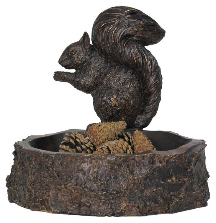 Squirrel on Stump Planter