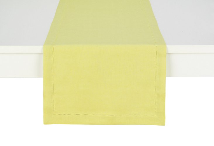 Linen Table Runner, Citron
