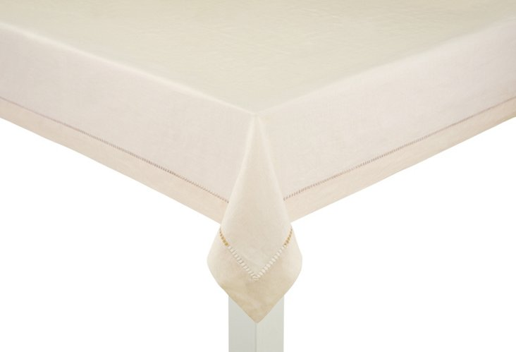Linen Tablecloth, Ivory