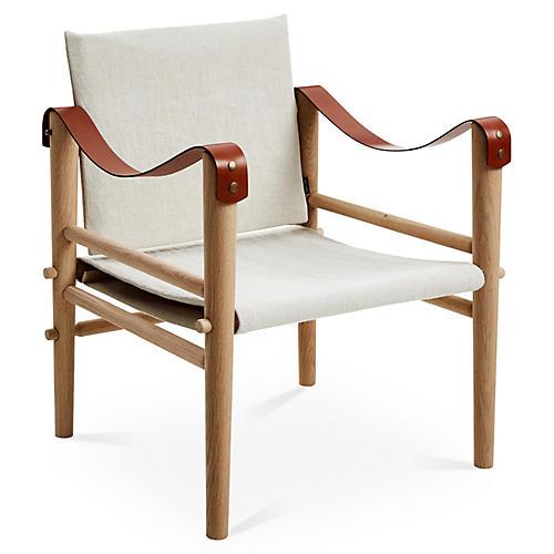 Toulouse Accent Chair, Beige Linen