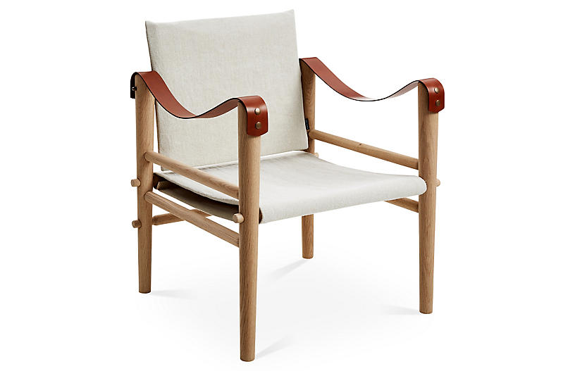Toulouse Accent Chair, Beige Linen - Temps Libre - Brands   One ...