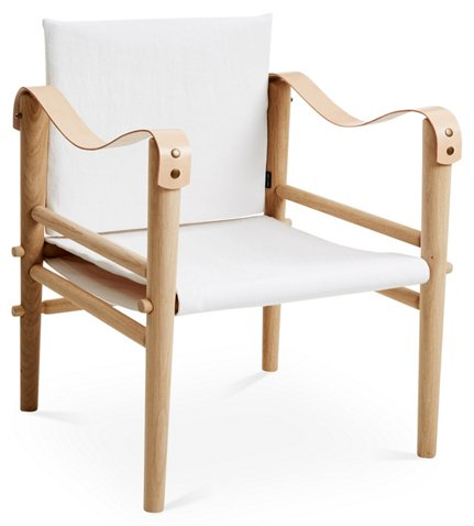 Toulouse Accent Chair, White Linen - Temps Libre - Brands | One ...