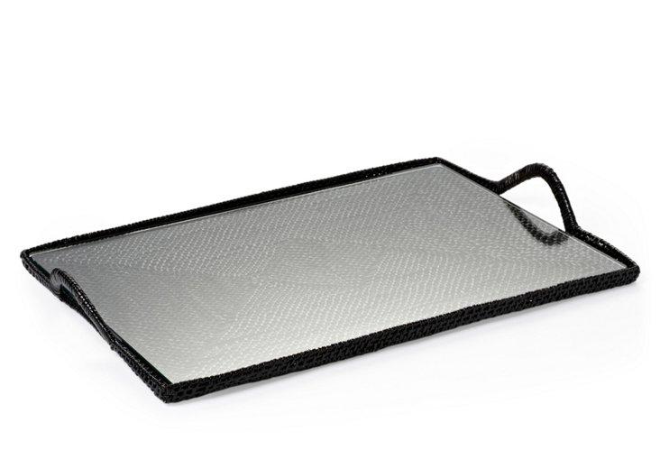 Rectangular Tray w/ Glass, Medium