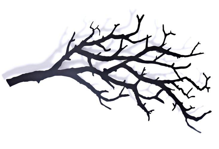 Large Tree Branch Hooks, Black
