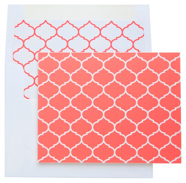 S/20 Boxed Link Note Cards, Pink