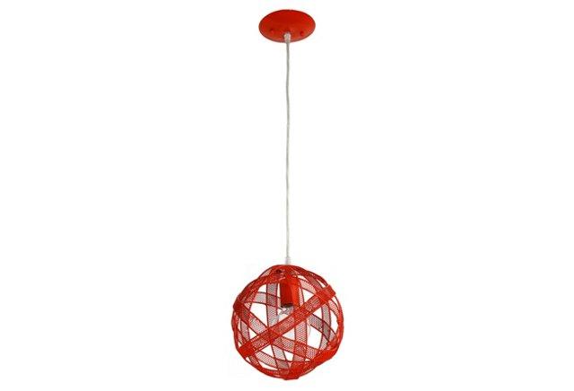 Mesh Sphere Mini Pendant, Tangerine