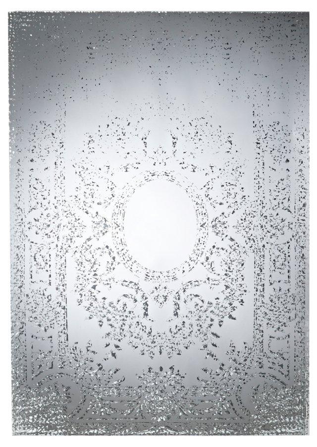 Hampton Oversize Mirror, Silver
