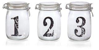 Set of 3 Assorted Bail/Trigger Jars