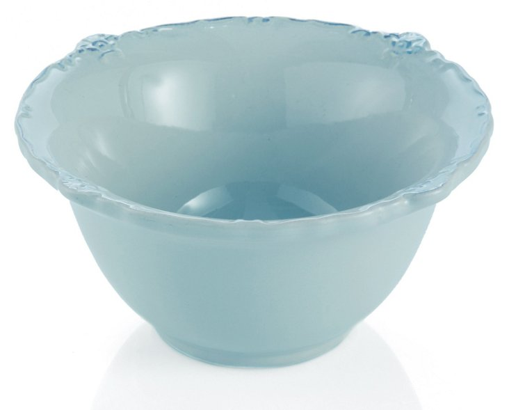S/4 Rooster Soup Bowls, Blue