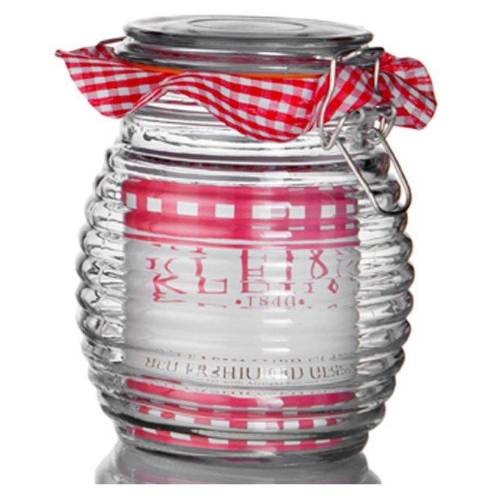 Kleins Ribbed Bail Jar, 30 Oz