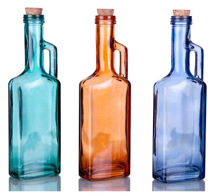 Asst of 3 Handled Bottles