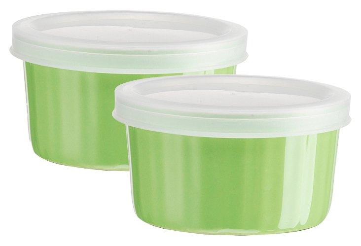 S/2 Storage Ramekins w/ Lids, Green
