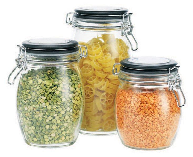 Asst of 3 Hermetic Jars