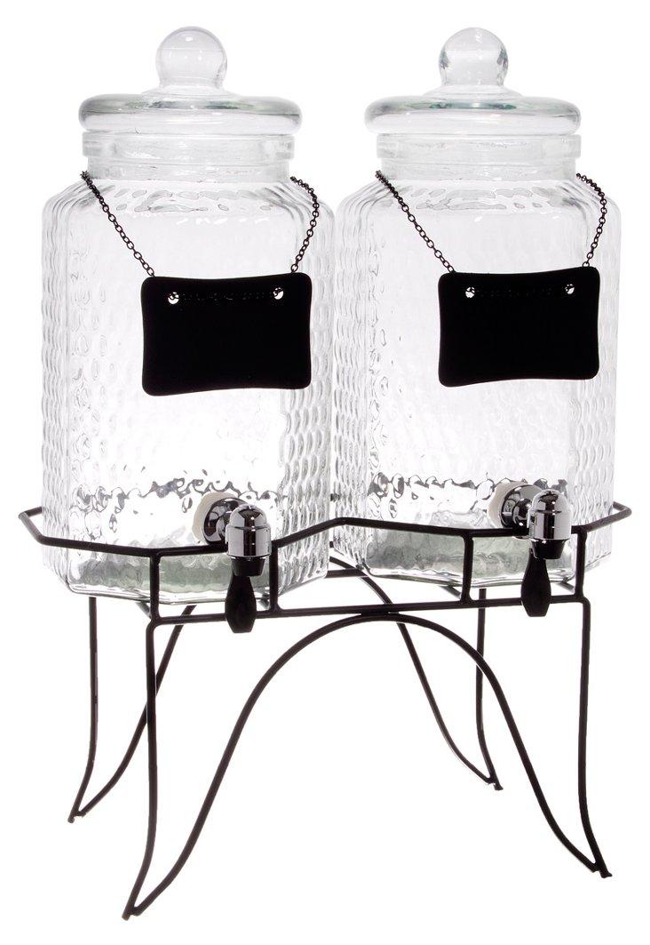 3-Pc Chalkboard Dispenser Set w/ Stand
