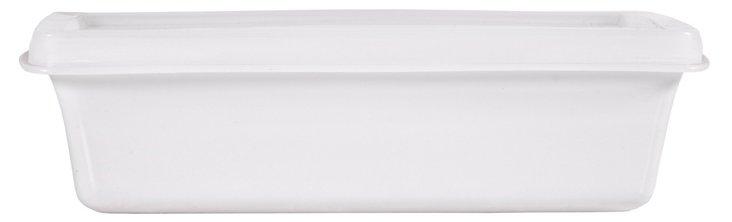 S/2 Rectangular Dishes, White