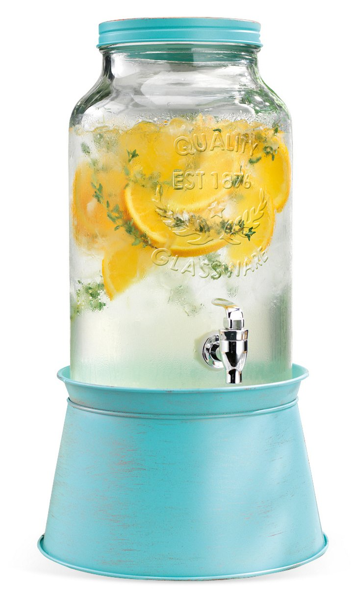 Galvanized Drink Dispenser, Blue