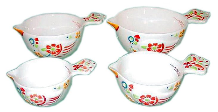 4-Pc Rooster Measuring Cup Set