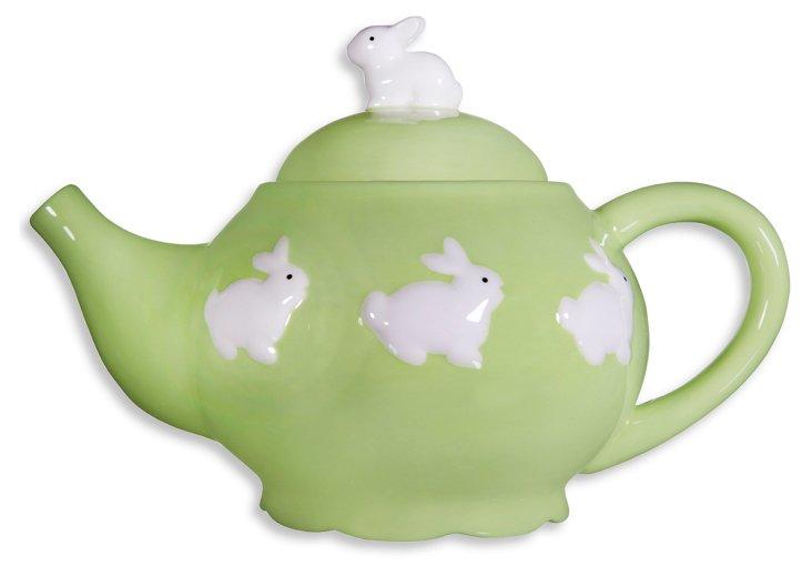 Spring Teapot, Green