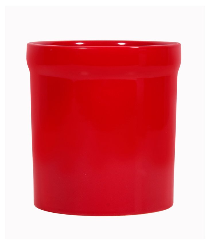 Utensil Crock, Red