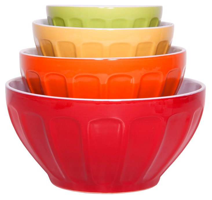 S/4 Nested Mixing Bowls, Multi