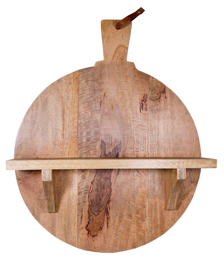 """20"""" Pizza Paddle Wood Shelf"""
