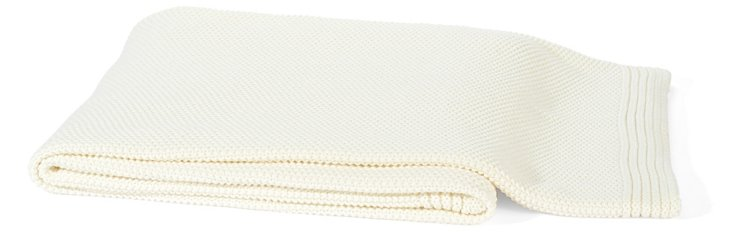Hampton Cotton Throw, White