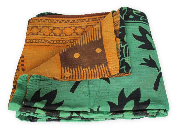 Hand-Stitched Kantha Throw, Michelle