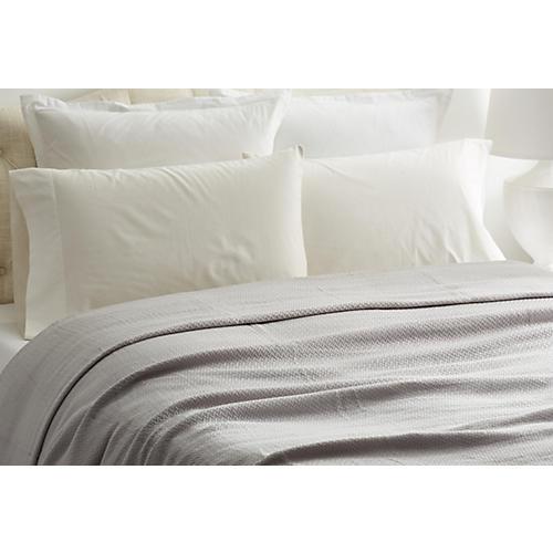 Herringbone Blanket, Gray