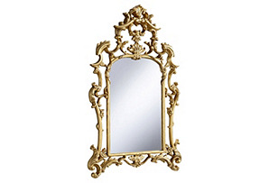 Crown Mirror, Gold