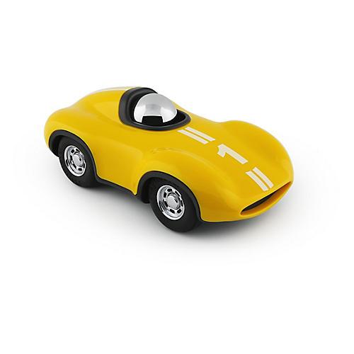 Mini Race Car Toy, Yellow/Chrome