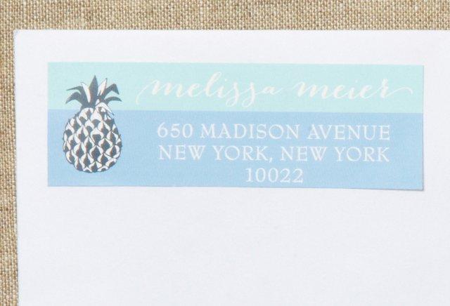 S/80 Custom Pineapple Address Labels