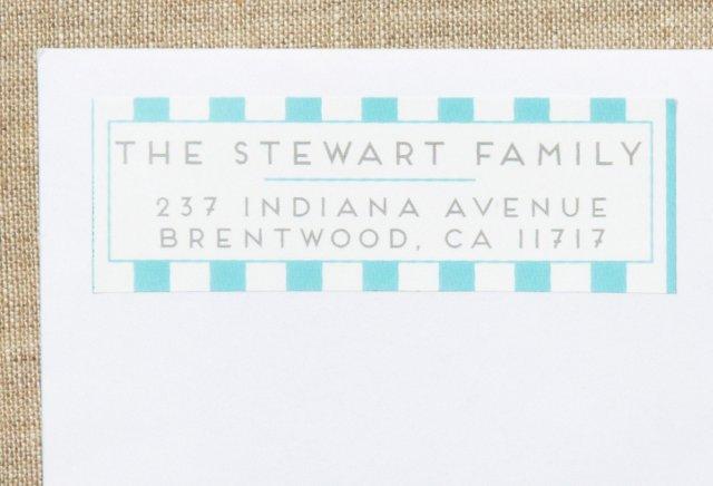 S/80 Custom Address Labels, Candy Stripe
