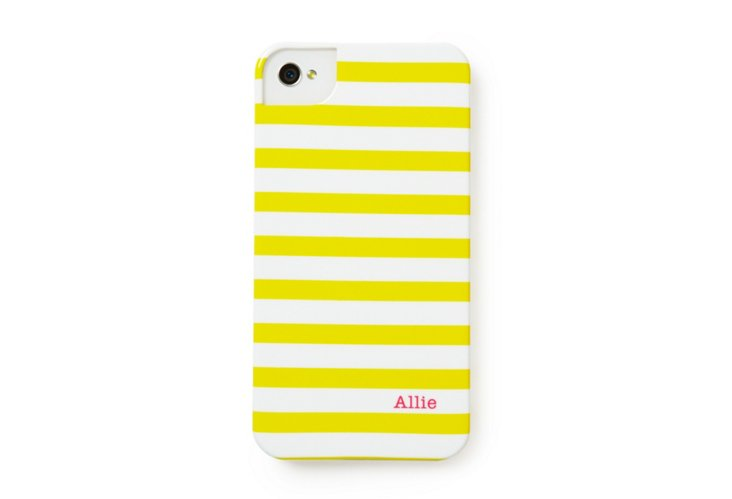 Custom iPhone Case, Yellow/Pink