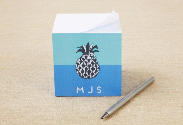 Custom Sticky Note Cube, Pineapple