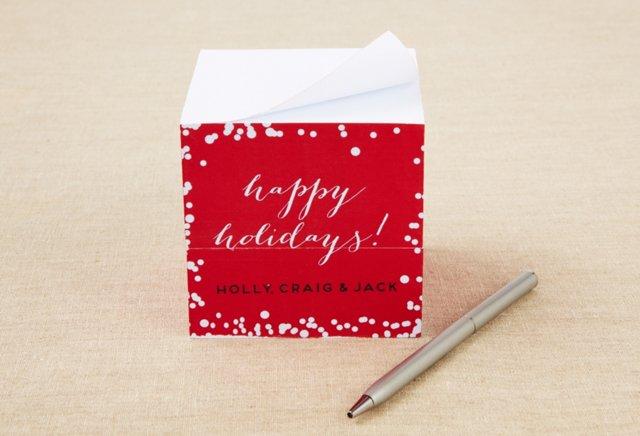 Custom Sticky Note Cube, Holiday