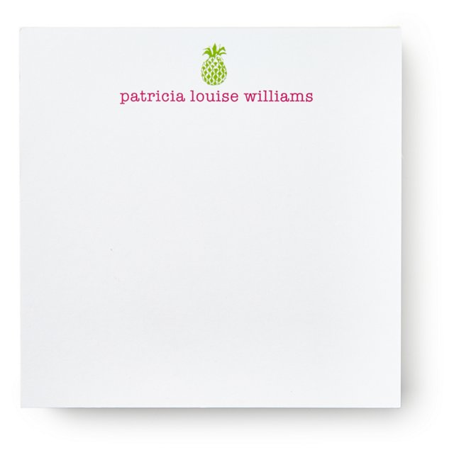 200 Sheet Square Notepad, Pineapple