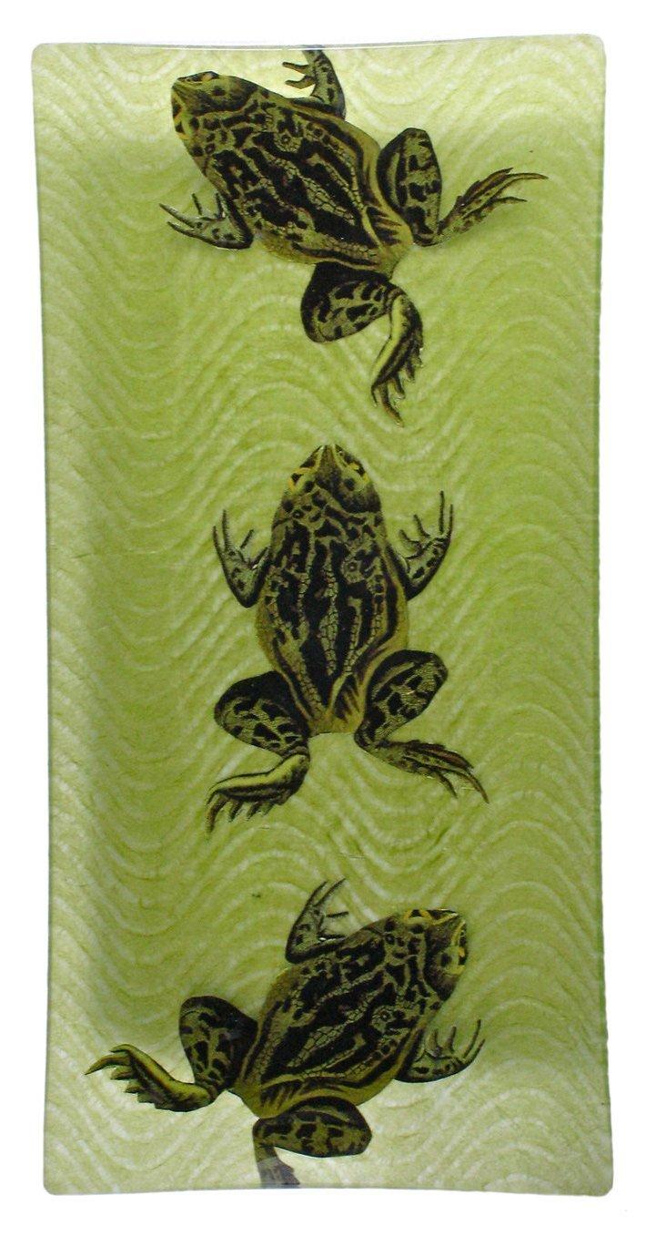 6x12 Three Frogs Decoupage Tray