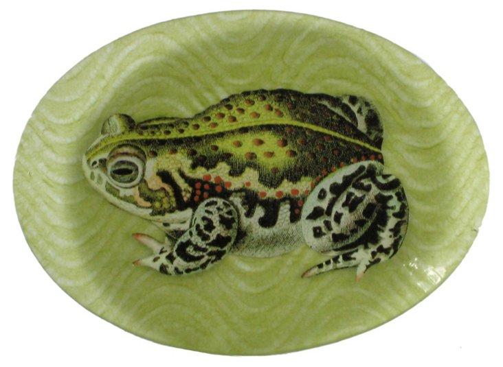 5x7 Oval Frog Decoupage Tray