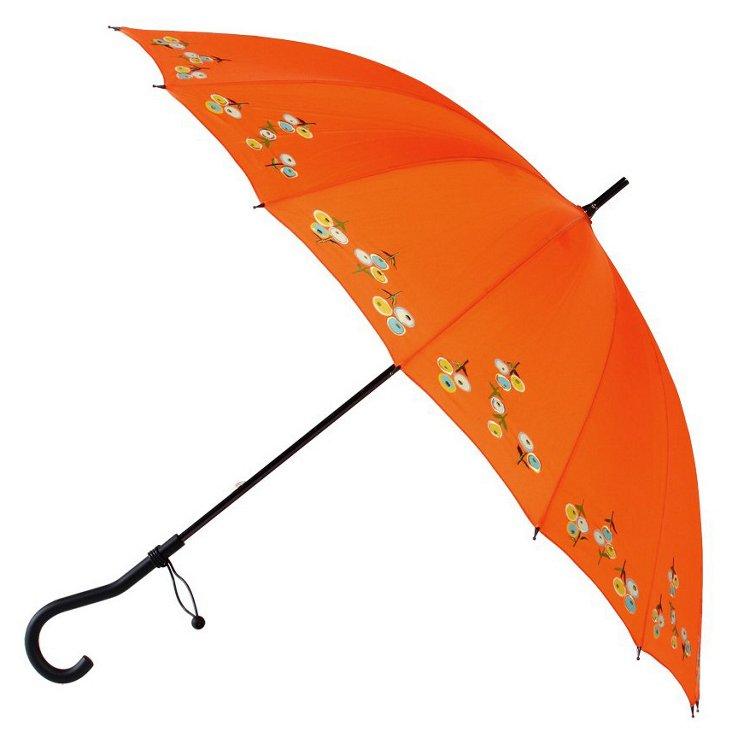 Crook Stick Umbrella, Orange