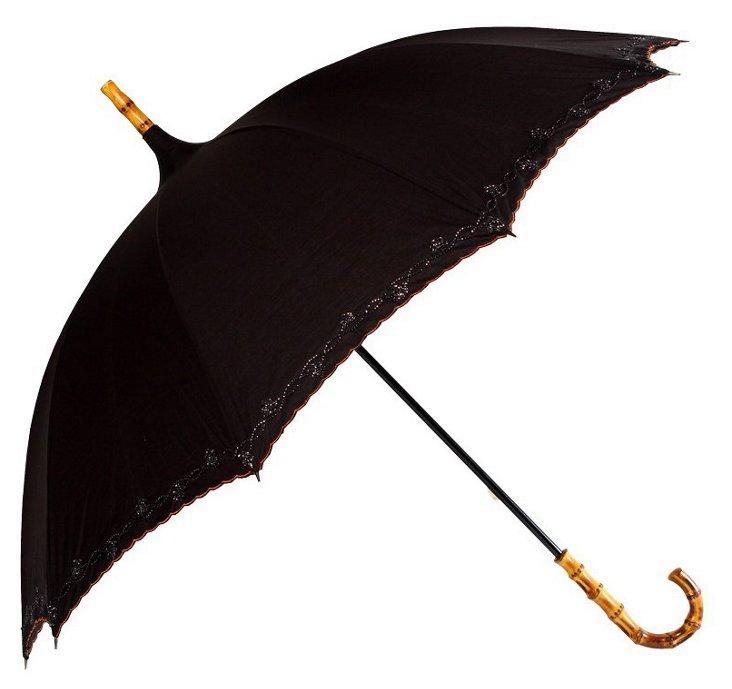 Pagoda Cane Umbrella, Black